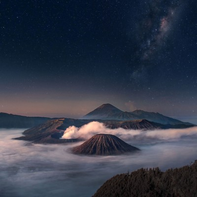 Bromo Starry Night / Mount Bromo ( Indonesia ) by Silentino Natti